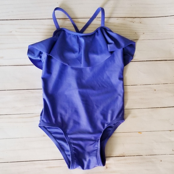 Old Navy Other - Old Navy Toddler Purple Ruffle One Piece Swimsuit